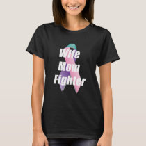 Thyroid Cancer Awareness Products Ribbon Wife Mom T-Shirt