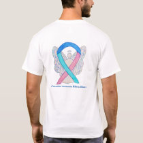 Thyroid Cancer Awareness Ribbon Angel Custom Shirt