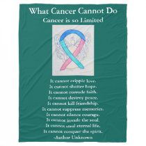 Thyroid Cancer Awareness Ribbon Art Chemo Blanket