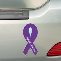 Thyroid Cancer Awareness Ribbon Car Magnet