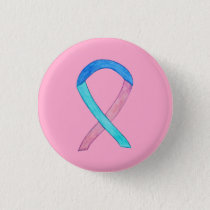 Thyroid Cancer Awareness Ribbon Custom Pin Buttons