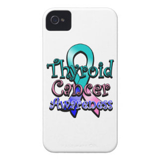 Thyroid Cancer Awareness Ribbon iPhone 4 Case