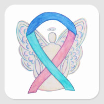 Thyroid Cancer Awareness Ribbon Sticker Decals