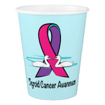Thyroid Cancer Awareness Swans of Hope Paper Cup