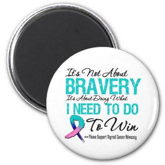 Thyroid Cancer Battle 2 Inch Round Magnet