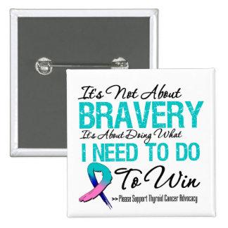 Thyroid Cancer Battle Pinback Button