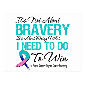 Thyroid Cancer Battle Postcard