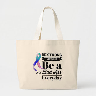 Thyroid Cancer Be Strong Large Tote Bag