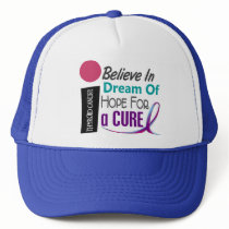 Thyroid Cancer BELIEVE DREAM HOPE Trucker Hat