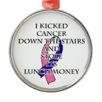 Thyroid Cancer Bully Metal Ornament