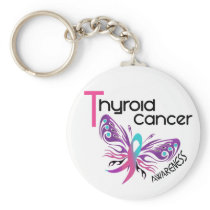 Thyroid Cancer BUTTERFLY 3.1 Keychain