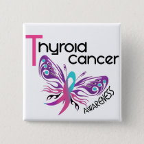 Thyroid Cancer BUTTERFLY 3.1 Pinback Button