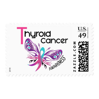 Thyroid Cancer BUTTERFLY 3.1 Stamps