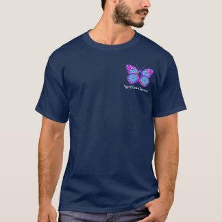 Thyroid Cancer Butterfly Awareness Ribbon T-Shirt