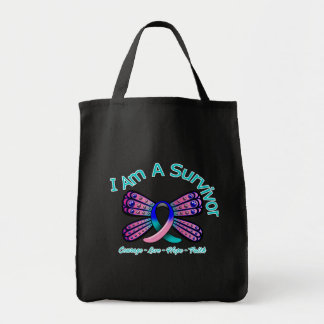 Thyroid Cancer Butterfly I Am A Survivor Bag