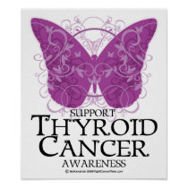 Thyroid Cancer Butterfly Poster