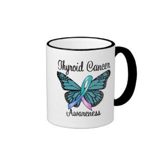 Thyroid Cancer Butterfly Ribbon Mug
