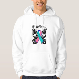 Thyroid Cancer Butterfly Survivor Hooded Pullover