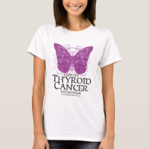 Thyroid Cancer Butterfly T-Shirt