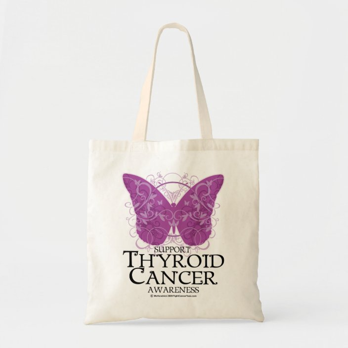 Thyroid Cancer Butterfly Tote Bag Zazzle Com