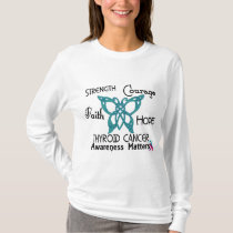 Thyroid Cancer Celtic Butterfly 3 T-Shirt