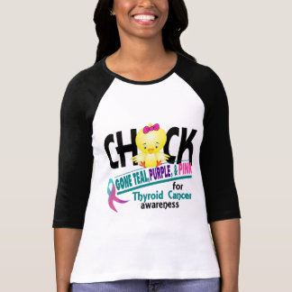 Thyroid Cancer Chick Gone Teal, Purple, And Pink 2 T-Shirt