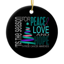 Thyroid Cancer Christmas 1 Ornaments