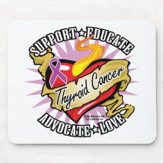 Thyroid Cancer Classic Heart Mouse Pad