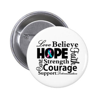 Thyroid Cancer Collage of Hope 2 Inch Round Button