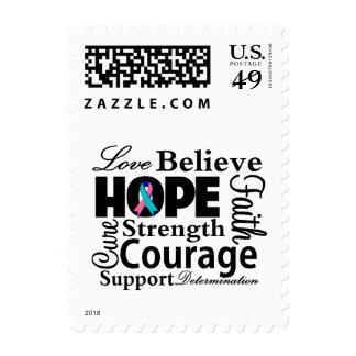 Thyroid Cancer Collage of Hope Postage