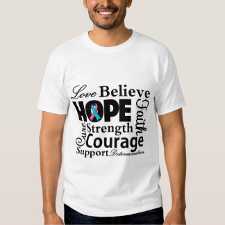 Thyroid Cancer Collage of Hope Shirt