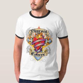 Thyroid Cancer Cross & Heart T-Shirt