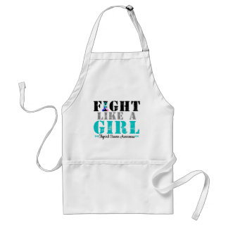 Thyroid Cancer Distressed Fight Like a Girl Adult Apron
