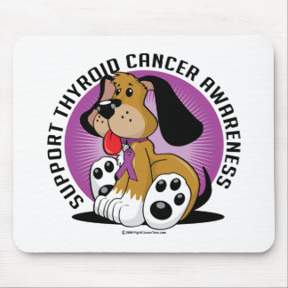 Thyroid Cancer Dog Mouse Pad