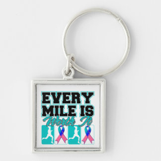Thyroid Cancer Every Mile is Worth It Key Chains