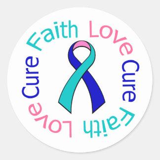 Thyroid Cancer Faith Love Cure Stickers