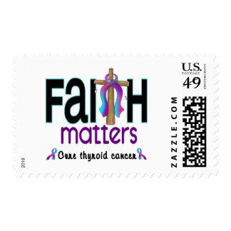 Thyroid Cancer Faith Matters Cross 1 Postage