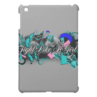 Thyroid Cancer Fight Like A Girl Grunge Butterfly Case For The iPad Mini