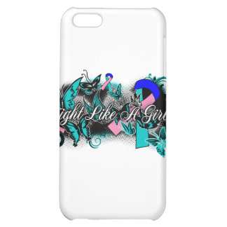 Thyroid Cancer Fight Like A Girl Grunge Butterfly iPhone 5C Cases