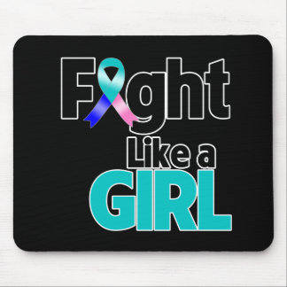 Thyroid Cancer Fight Like a Girl Mouse Pad