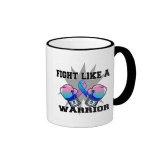 Thyroid Cancer Fight Like a Warrior Ringer Mug