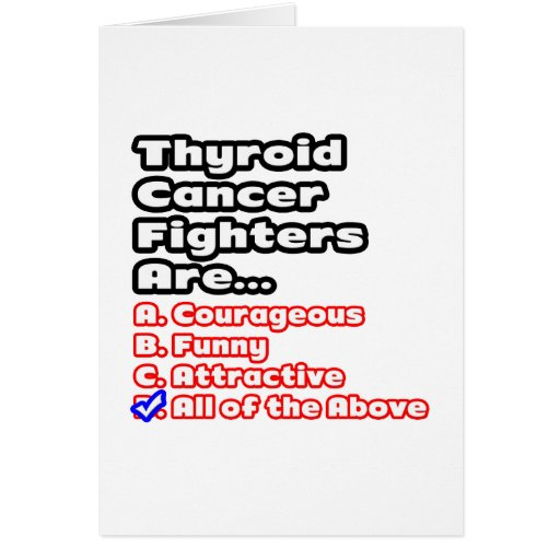 Thyroid Cancer Fighter Quiz Greeting Card