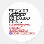 Thyroid Cancer Fighter Quiz Round Sticker