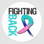 Thyroid Cancer Fighting Back Classic Round Sticker