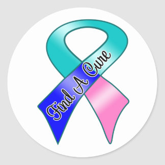 Thyroid Cancer Find a Cure Round Stickers