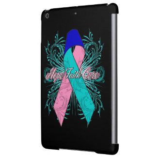 Thyroid Cancer Flourish Hope Faith Cure iPad Air Cover