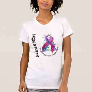 Thyroid Cancer Flower Ribbon 3 T-Shirt
