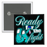 Thyroid Cancer Gloves Ready For The Fight Pinback Buttons