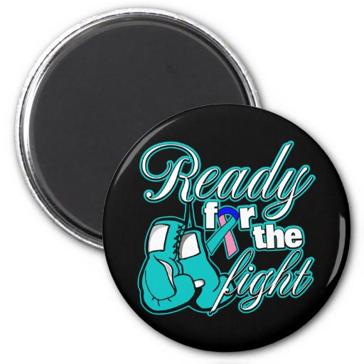 Thyroid Cancer Gloves Ready For The Fight Fridge Magnet
