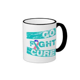 Thyroid Cancer Go Fight Cure Coffee Mugs